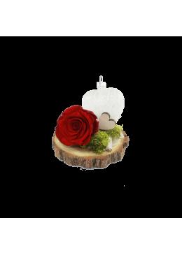 Rose éternelle  L'amour  la Française Coeur Rose Rouge