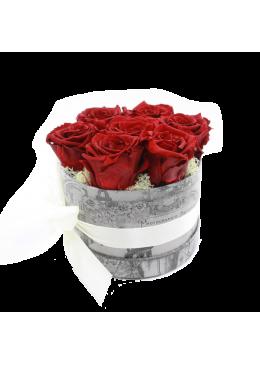 Rose éternelle  L'amour  la Française Box Kity Rose Rouge