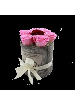 Rose éternelle  L'amour  la Française Box Pussy Roses Rose et Rouge