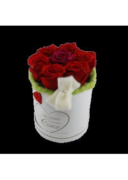 Rose éternelle  L'amour  la Française Box Pussy Roses Rouge